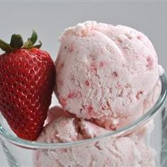 Easy, Eggless Strawberry Ice Cream... an every now and again treat that any ripe fruit could be subbed in!  Delicious!