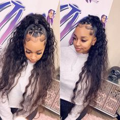 hairstyles into a ponytail hairstyles to the side for braided hairstyles hairstyles hairstyles buns hairstyles going back braid hairstyles hairstyles kinky twist Weave Ponytail Hairstyles, Ponytail Styles, Sleek Ponytail, My Hairstyle, Curly Hair Styles, Natural Hair Styles, Long Ponytail Weave, Hair Styles With Weave, 2 Braids With Weave