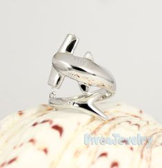 Sterling Silver Hammerhead Shark Ring Size by Dive4Jewelry on Etsy, $68.00