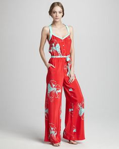 Paul Floral-Print Jumpsuit by Oonagh by Nanette Lepore at Bergdorf Goodman.