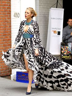 Blake Lively in some amazing summer eveningwear