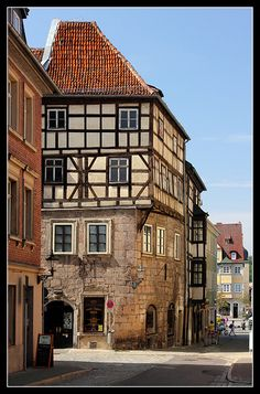 Steingasse in the city of Coburg, Germany