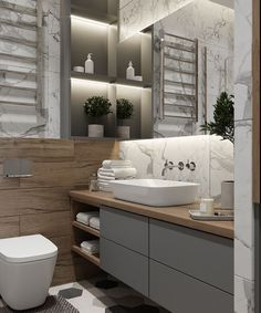 Advice, methods, also quick guide in the interest of receiving the very best outcome and also creating the optimum utilization of Small Bathroom Ideas Remodel Modern Bathroom Design, Bathroom Interior Design, Bathroom Design Inspiration, Toilet Design, Deco Design, Bathroom Styling, Apartment Interior, Home Decor Kitchen, Bathroom Renovations