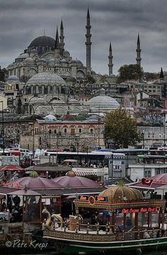 Eminönü, Istanbul, Turkey http://www.travelmagma.com/turkey/things-to-do-in-istanbul