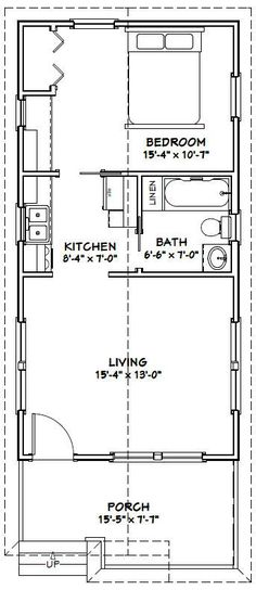 16x32 Tiny House -- #16X32H1I -- 511 sq ft - Excellent Floor Plans