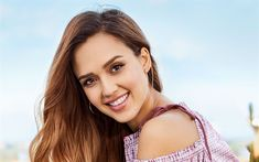 Download wallpapers 4k, Jessica Alba, 2018, american actress, portrait, Hollywood, movie stars, blonde, smile, beauty