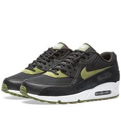Nike W Air Max 90 (Black & Palm Green)