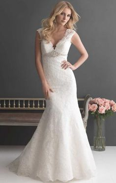 Modest Lace Long Wedding Dresses HSNCA0134-SheinDressAU