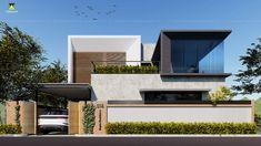 Bungalow Exterior, Bungalow House Design, House Front Design, Dream House Exterior, Villa Design, Facade Design, House Architecture Styles, Minimal House Design, House Elevation