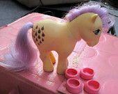 vintage My Little Pony Lemondrop Yellow Vintage 80s toy Hasbro 1982 G1 Generation One Pony