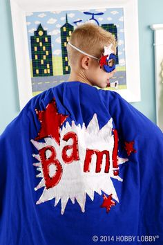 Bam! Zap! Zoom! Pow! This oh-so-soft flannel cape is sure to make 'em say WOW.