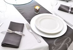 #pewter #slategrey table overlay   Grey Table Linens