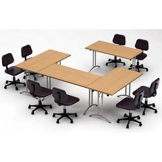 TeamWORK Tables Natural Beech Conference Tables Meeting Tables Seminar Tables Compact Space Maximum Collaboration 3870 - The Home Depot Business Furniture, Home Office Furniture, Wood Furniture, Half Round Table, Modular Table, Modern Tabletop, Corner Storage, Conference Table, Conference Meeting