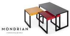 Mondrian Large Coffee Table Set, Multicolour £99
