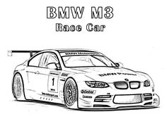 m and m coloring pages | ... Pages : Download BMW M3 Race Car Coloring Pages | Cars Coloring Pages