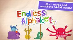 Endless Alphabet playful phonics app for children- monsters introducing a word for each letter of the alphabet. Children drag letters into place, hear their sounds. iPad/iPhone--check it out! Phonics aren't perfect but very fun nonetheless :) Educational Apps For Kids, Learning Apps, Mobile Learning, Educational Videos, Learning Tools, Preschool Activities, Best Free Ipad Apps, Free Apps, Teaching Letters