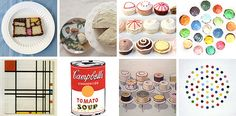 art inspired cakes & cupcakes