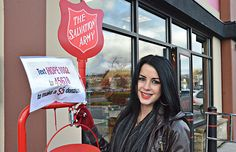 Kayla Corse is volunteering five shifts a week to help with the Salvation Army Kettle Campaign in Langley - but more volunteers are still badly needed. Volunteers, Kettle, Campaign, Army, Corse, Gi Joe, Tea Pot, Military, Boiler