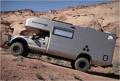 Earthroamer are global leaders in Xpedition Vehicles, their spectacular XV-LT model line is currently the best-selling Xpedition Vehicle model in the world, and we can see why, they are in a class of their own. The company take a Ford diesel and Ford Trucks, Pickup Trucks, Class B Camper Van, Volkswagen, Ford F550, Dodge, Overland Trailer, Trailer Plans, Off Road Camper