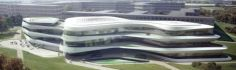 Modern Architecture In Germany – 26 Interesting Buildings, Green Climate Fund Headquarters Futuristic Architecture, Facade Architecture, Concept Architecture, Amazing Architecture, German Architecture, Interesting Buildings, Futuristic Design, Modern Buildings, Green Building