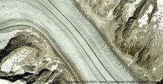 Glacier d'Aletsch, 3984 Fieschertal, Suisse: carte Glacier, Aerial View, Landscape, Abstract, Artwork, Switzerland, Summary, Work Of Art, Auguste Rodin Artwork
