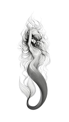 23 Ideas Tattoo Mermaid Sirens Merfolk For 2019 Mermaid Artwork, Mermaid Drawings, Realistic Mermaid Drawing, Drawings Of Mermaids, Beautiful Mermaid Drawing, Mermaid Pics, Mermaid Sketch, Mermaid Paintings, Mermaid Images
