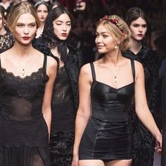 Karlie Kloss and Gigi Hadid for Dolce & Gabbana