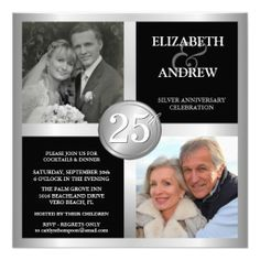 25th Anniversary Invitations with 2 Photos