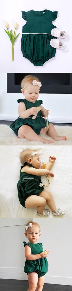 Baby Girls Clothing: Us Stock Newborn Baby Girls Romper Jumpsuit Bodysuit Clothes Outfits Sunsuit Set -> BUY IT NOW ONLY: $6.99 on eBay!