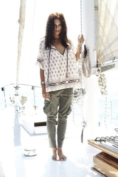 Harem cargos + ethnic smock. Lovely spring outfit.