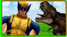 Elephant Finger Family Rhymes    X Men Vs Dinosaurs Wolverine Fights    ...