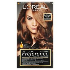 L'Oreal Paris Preference Havane Mahogany Brown Long-lasting Hair Color - Hair color Amber Hair Colors, New Hair Colors, Blonde Hair With Highlights, Hair Color Balayage, Loreal Hair Dye, Diy Ombre Hair, Vidal Sassoon Hair Color, Brown Hair Color Shades, Hair Dye Tips