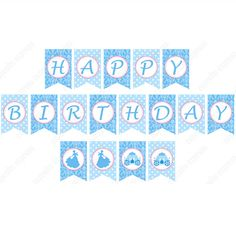 Cinderella Inspired Printble Happy Birthday Banner DIY
