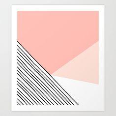 Mono Pastel // Abstract  Art Print by Melissa Selmin - $14.98