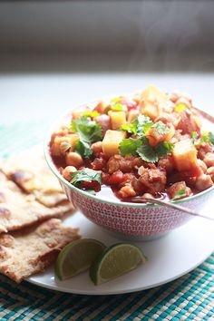 Slow Cooker Indian-Spiced Chickpeas