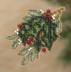 Holly beaded cross stitch kit