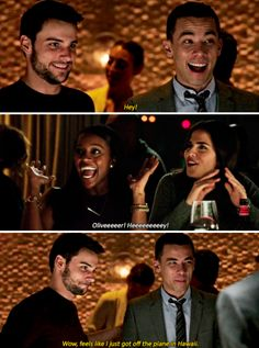 When Oliver met Connor's partners in crime. I mean friends, friends! Frank And Laurel, Series Movies, Tv Series, Conrad Ricamora, Connor And Oliver, Jack Falahee, Tv Show Music, Fandoms, How To Get Away