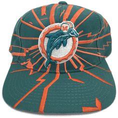 1c5465f30 Vintage Miami Dolphins Starter Shockwave Snapback Hat Cap NFL Pro Line 90s  Sz  Starter