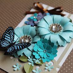 ATCなのに盛り盛りにしちゃいました(^_^;) #paper #paperart #papercraft #paperflowers #paperflower #ペーパーアート #ペーパーフラワー #atccard