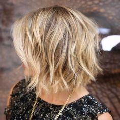 Messy Honey Blonde Balayage Bob