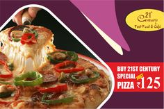 End your week with friends and family & visit us for a lovely, tasty, fun time! 😍 Enjoy #Delicious #21st #Century #Fast #Food #And #Cafe Special #Pizza <3. Download App and order Now:-goo.gl/LpEJqG  #onlinemobileapp #foodlovers #like4like #foodlove #party #cafe #healthyfood #healthylifestyle #Pizzalovers