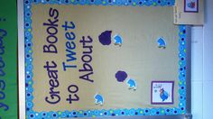I like this. I can see having kids write in x number of words why they like the book. Twitter bulletin board