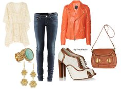 I want the bag and shoes!. I love the jacket!