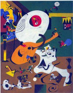 """Juan MIRO """" intérieur hollandais """" (1928)"""