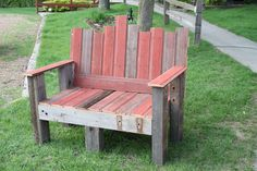 Old barn wood bench we made.