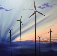 Windfarm 2  Original artwork by Alex Mckell