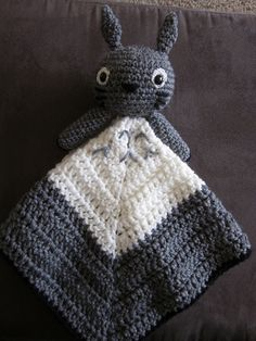 Crochet Totoro Lovey by Katie Stevens at Craft Sauce