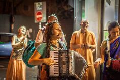 Iskcon devotees perform Harinam in Tel-Aviv, Israel despite the the sirens and fire caused by bombing (Album 22 photos)