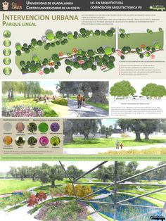 Intervencion urbana | Prolongacion parque lineal integrado al hospital | Ark Design Arquitectos Landscape Plane, Landscape Architecture Model, Landscape Design, Garden Design, Pocket Park, Plan Sketch, Architecture Presentation Board, Sustainable City, Planting Plan
