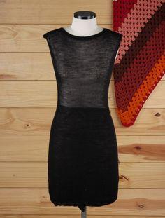 vestido preto transparente - vestidos elô bertô tricô